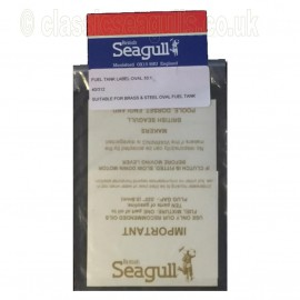 British Seagull Self Adhesive 10:1 Fuel Tank Decal