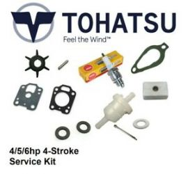 Tohatsu 4hp/5hp/6hp 4-Stroke Outboard Service Kit (No Oil)